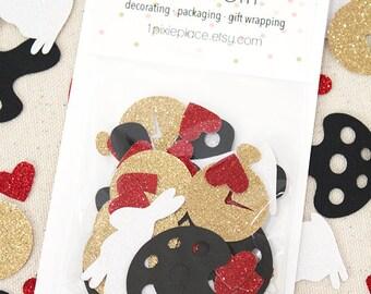 Alice in Wonderland - Down the Rabbit Hole Glitter Confetti - 60 pieces - Table confetti, Party Decorations