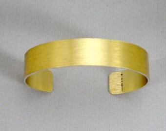 "1/2"" x 6"" (.5 x 6)  Gold anodized aluminum cuff bracelet blanks, dozen"