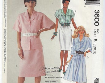 McCalls 3600 - MISSES Blouse & Skirts / Sizes 8, 10, 12