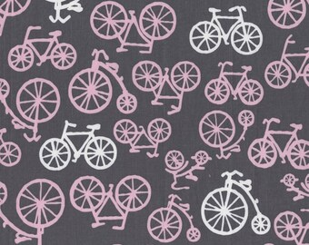 Bloom Bicycles for Michael Miller, 1/2 yard 100% cotton fabric