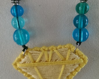 yellow gem pendant