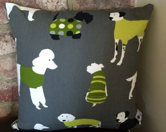 Dogs In Coats print cushion cover