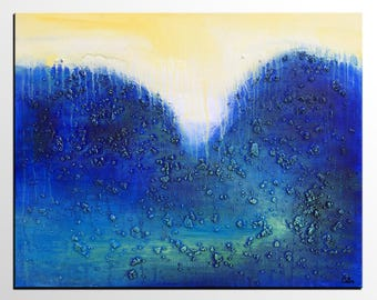 LARGE Art, Original Artwork, Contemporary Art,  Modern Art, Large Blue Painting, Canvas Art, Abstract Art, Wall Art, Canvas Painting