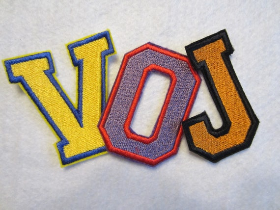 embroidered letter patches embroidered varsity iron on letters school letters varsity 21477