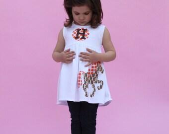 Toddler Dress or Girls Dress- Horse Applique - You Choose Dress Color and Sleeve Length