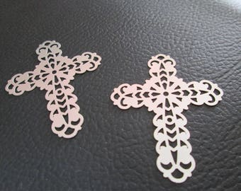 2 prints / from 40 x 32 mm stainless steel cross charm