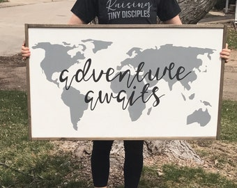 Adventure Awaits | boys nursery decor | girls nursery decor | kid's playroom decor |