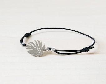 Monstera bracelet, silver monstera bracelet, philodendron leaf bracelet, leaf bracelet, tropical bracelet, botanical bracelet, tropical leaf