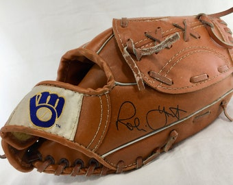 1980s BREWERS Vintage ROBIN YOUNT Youth Baseball Glove Mitt 2526 Roundy's Pepsi