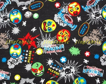 C352 - 138cmx100cm Cotton Fabric - Skull,the soung springs out