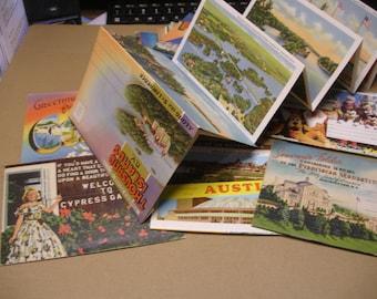 Group of Souvenir Post Card Folders