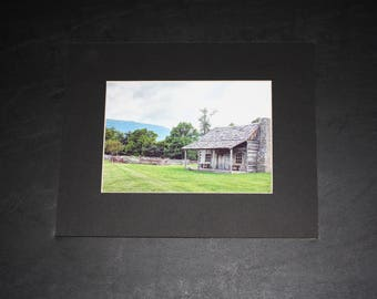 In the Mountains of Southwest Virginia Cabin Photography Matted Photo 8x10