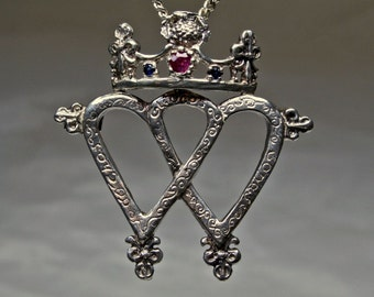 Traditional Scottish Luckenbooth Pendant / Brooch in Sterling Silver, reserved for Scott