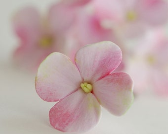 Made to Order - Light Pink Hydrangea Hair Flowers Set of 6