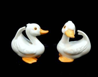 Homco Ducks, Bird Pair, Bath Decor, Gift for Collector