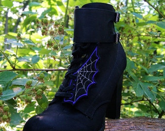 Spiderweb Embroidered Shoe Wings - MTCoffinz - Choose color