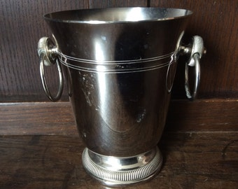 Vintage French small ice bucket champagne bar deco circa 1970's / English Shop