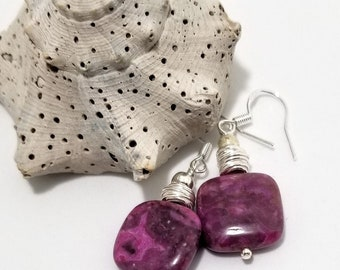 Lepidolite Semi-Precious Gemstones adorned with .925 Sterling Silver #623