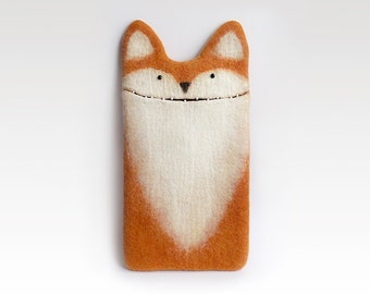 iPad 9,7 inch Fox case, case for new iPad, felt fox, felted case, eco-friendly, handmade gift