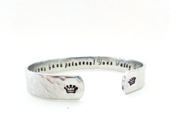 Goddaughter Godmother Gift, Ive got your back Princess, Your Fairy Godmother Cuff Bracelet - Customizable