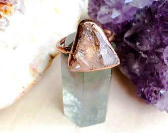 Triangle Quartz Ring Size 7 1/2