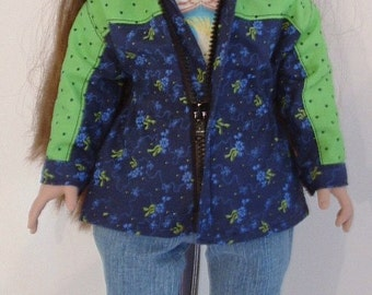 Navy and Green Spring Jacket