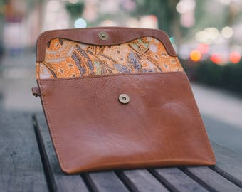 Leather Women's Clutch // Ladies Handbag // Clutch Wallet // Gifts For Her //