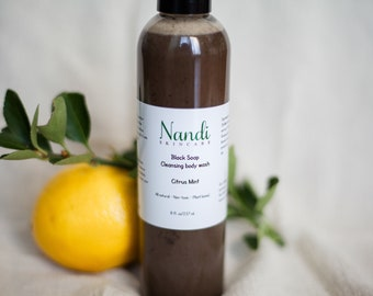 Black soap cleansing body wash
