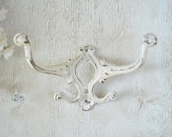 Cast iron Hook,Ornate Wall Hook,Double Arm Hook,Coat hook, Towel hooks, Shabby chic