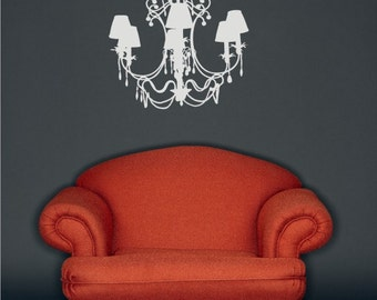 Chandelier Wall Decal Fancy - Vinyl Wall Stickers Art Graphics Custom Home Decor