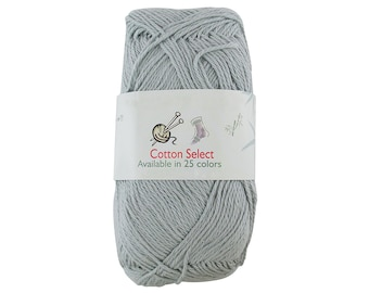 Mint Green Almost Gray Cotton Yarn 4 Skeins All Cotton Select