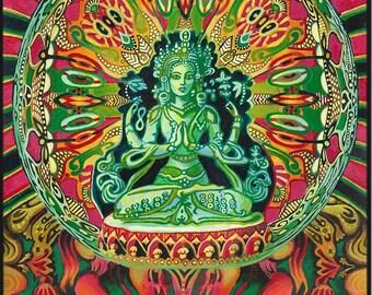 Guanyin Goddess of Compassion 11x14 Fine Art Print Psychedelic Art