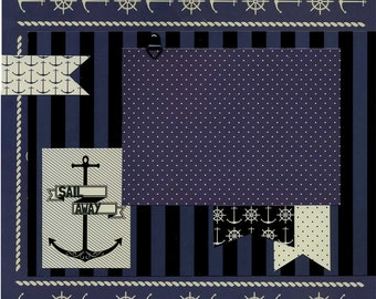 Sail Away - 12x12 Premade Scrapbook Page