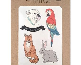 Pet Temporary Tattoos