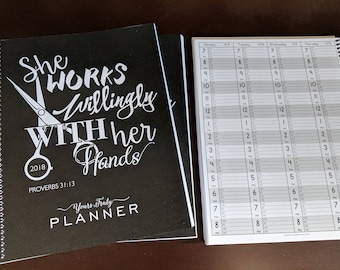 2018 Hairstylist Day Planner | Proverbs | Weekly | 13 months Jan '18 - Jan '19 | Appointment Book | Scheduling | Salon | Dated Weekly | Gift