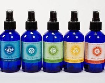 chakra spray Set - 7 chakra spray - seven chakra body spray - body mist - chakra balancing - chakra spray set - aromatherapy spray