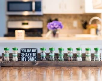 Spice Rack, Wooden Spice Rack, Rustic Home Decor, Farmhouse Decor, Kitchen Shelf, Kitchen Rack