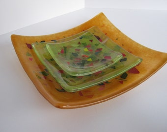 "Kiln Glass Plates ""Salivate"""