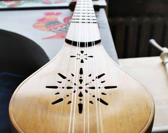 Medieval Gittern / Guitarra / Guiterne / Chitarra / Quintern / Made of linden, spruce, ash tree wood and horn of an elk / Medieval Music