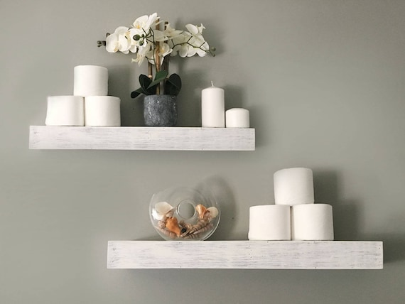 Whitewashed Floating Shelves Reclaimed Wood Custom Size