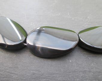 Sardonyx: 1 oval flat 30 mm * 20 mm bead