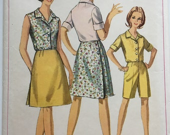 Simplicity 7098 Blouse // Skirt // Shorts Vintage Sewing Pattern Misses Size 42