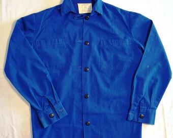 Vintage Girl Guide Uniform Blouse 1960s By Elen Original GGC Buttons Girl Guides Canada Official Guides Scouts Copen Blue