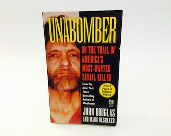 Vintage Non-Fiction Book Unabomber: On the Trail of America's Most Wanted Serial Killer by John Douglas 1996 Paperback True Crime