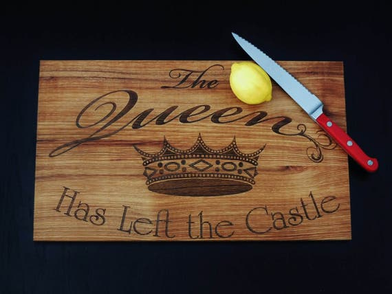 Engraved cutting board or charcuterie board.  Gift for mom, grandma, nana or any other queen in your life. Beautiful kitchen decor item.