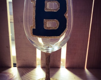 Boston Bruins Wine Glass 14oz.