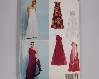 Formal Sleeveless Dress Sewing Pattern, New Look 6400, Size A 8 10 12 14 16 18, Bridal Dress, Bridesmaid, Prom, One shoulder strap dress