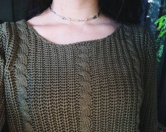 Silver Arrow Choker Necklace