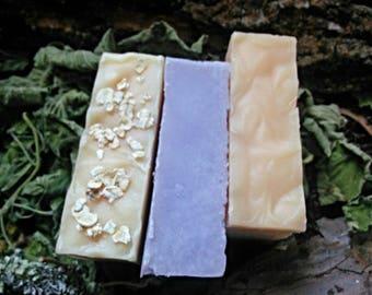 NATURAL SOAPS - 3 Bar  Set
