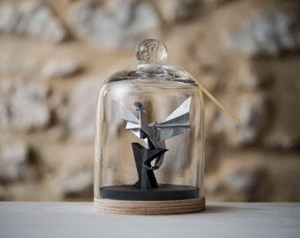 Origami Sculpture Dragon. Taxidermie. Decoration Game Of Thrones. Fantasy. Medieval. Cadeau pour lui. Fete des pères. Cabinet de Curiosités
